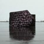 Handmade woven tie, black 2