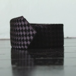 handmade woven tie, black 1