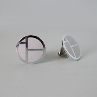IBO earrings white, 22mm diameter