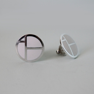 IBO earrings white, 22mm diameter