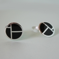 IBO cuff buttons black, 22mm diameter