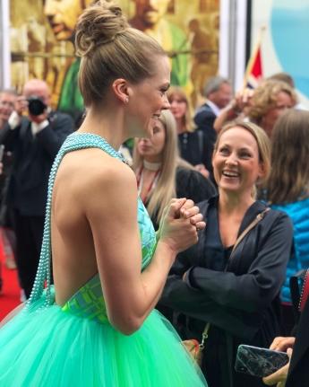 "Norwegian Actress Ane Dahl Torp t the opening night of ""Skjelvet""."