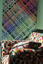IBO chair and woven textile art