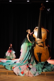 Octobass performance at the opening at Sentralen in Oslo March 1st 2016
