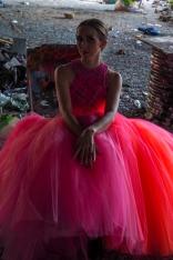PINK WOVEN DRESS